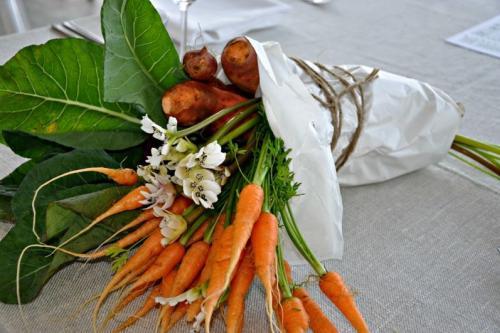Как составить овощной букет