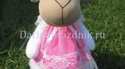 Текстильная кукла овечка своими руками - прекрасный подарок маленькой девочке