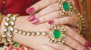 Оригинальные индийские ювелирные украшения - браслет кольцо Жади
